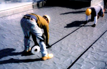 Western Craftsmen Apply Waterproofing Membrane