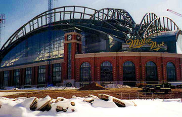 Under construction - Miller Park - Milwaukee, Wisconsin
